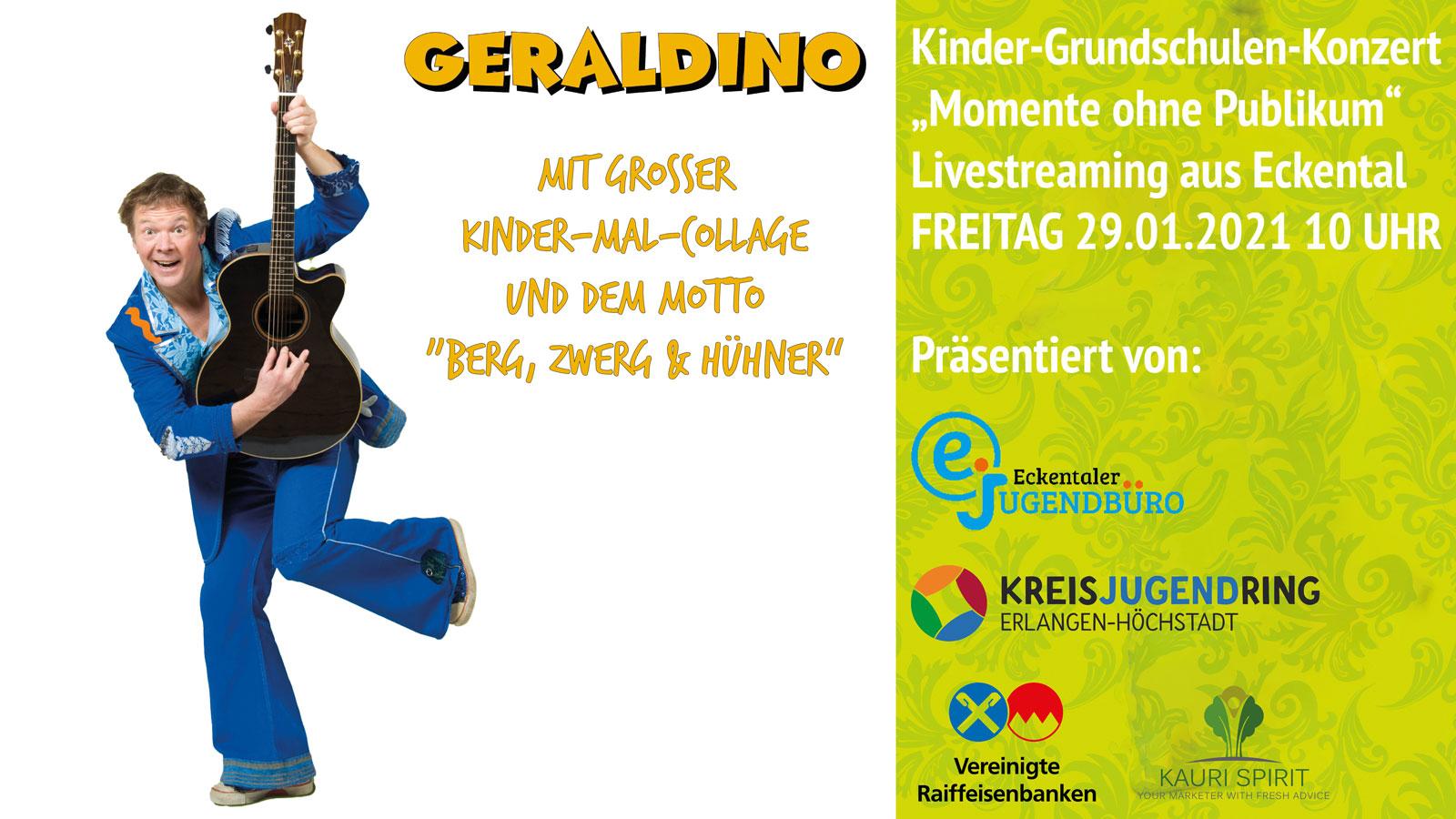 Geraldino Kindermusik Kinderkonzert Januar 2021