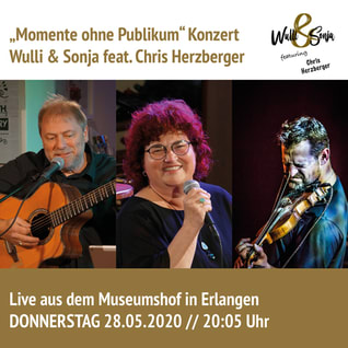 Wulli und Sonja mit Chris Herzberger Mai 2020