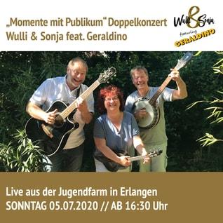 Wulli und Sonja mit Geraldino Juli 2020