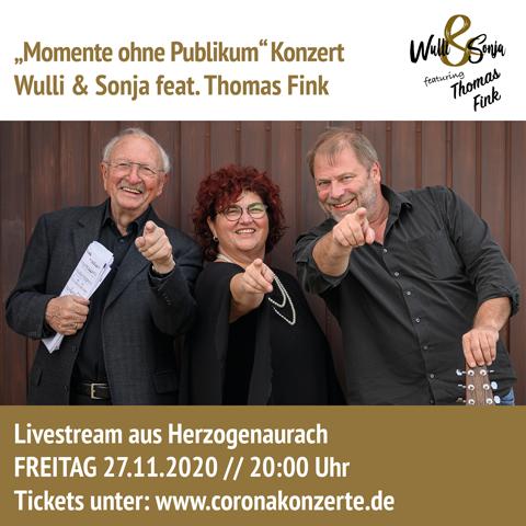 Wulli und Sonja mit Thomas Fink November 2020